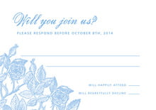 custom response cards - blue - briar rose (set of 10)