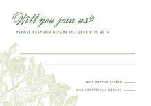 custom response cards - green tea - briar rose (set of 10)