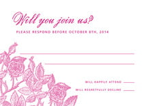 custom response cards - bright pink - briar rose (set of 10)