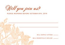 custom response cards - melon - briar rose (set of 10)