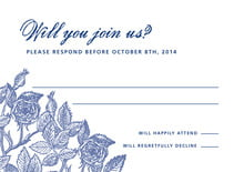 custom response cards - deep blue - briar rose (set of 10)