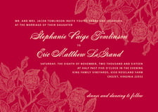 custom invitations - deep red - briar rose (set of 10)