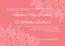 custom invitations - grapefruit - briar rose (set of 10)