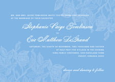custom invitations - blue - briar rose (set of 10)