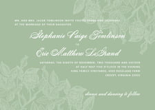 custom invitations - sage - briar rose (set of 10)