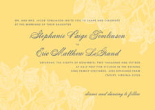 custom invitations - sunburst - briar rose (set of 10)