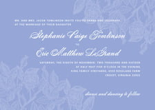 custom invitations - periwinkle - briar rose (set of 10)