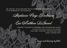 custom invitations - tuxedo - briar rose (set of 10)