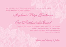 custom invitations - pale pink - briar rose (set of 10)