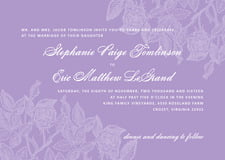 custom invitations - lilac - briar rose (set of 10)