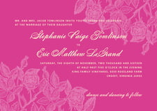 custom invitations - bright pink - briar rose (set of 10)