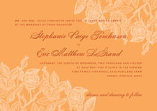 custom invitations - melon - briar rose (set of 10)