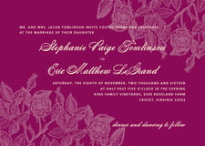 custom invitations - burgundy - briar rose (set of 10)
