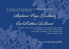 custom invitations - deep blue - briar rose (set of 10)
