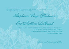 custom invitations - sky - briar rose (set of 10)