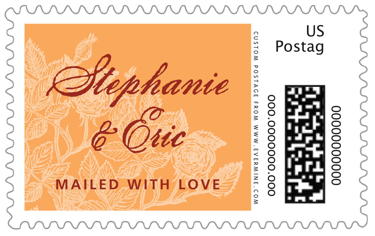custom large postage stamps - melon - briar rose (set of 20)