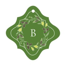 Botanical Monogram fancy diamond hang tags