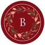 Botanical Monogram circle labels