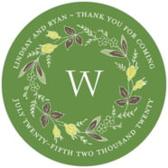 Botanical Monogram large circle labels