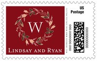 Botanical Monogram large postage stamps