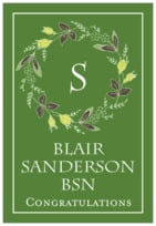 Botanical Monogram tall rectangle labels