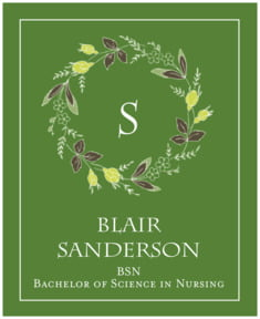 Botanical Monogram large labels