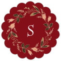Botanical Monogram scallop labels