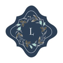 Botanical Monogram fancy diamond labels
