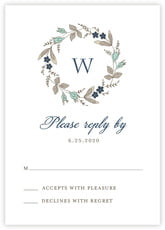 Botanical Monogram response cards