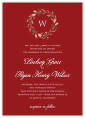 Botanical Monogram invitations