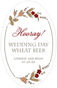 Botanical Monogram wedding beer labels