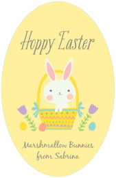 Bunny tall oval labels