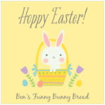 Bunny square labels