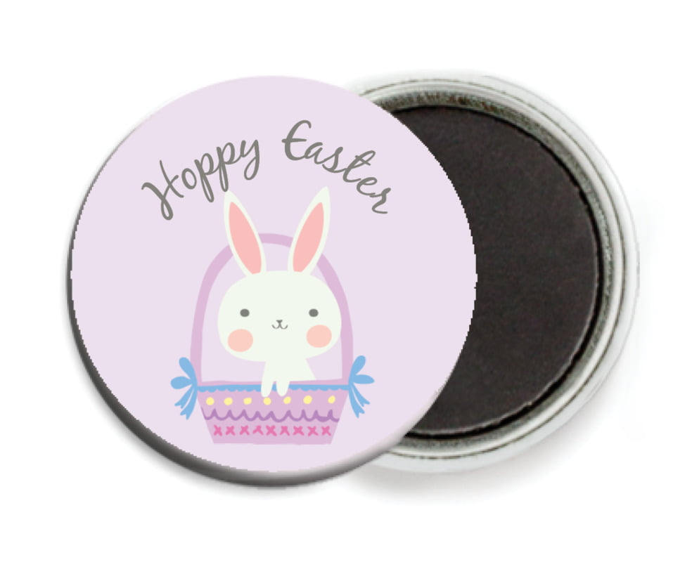 custom button magnets - lilac - bunny (set of 6)