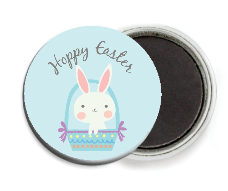 custom button magnets - sky - bunny (set of 6)