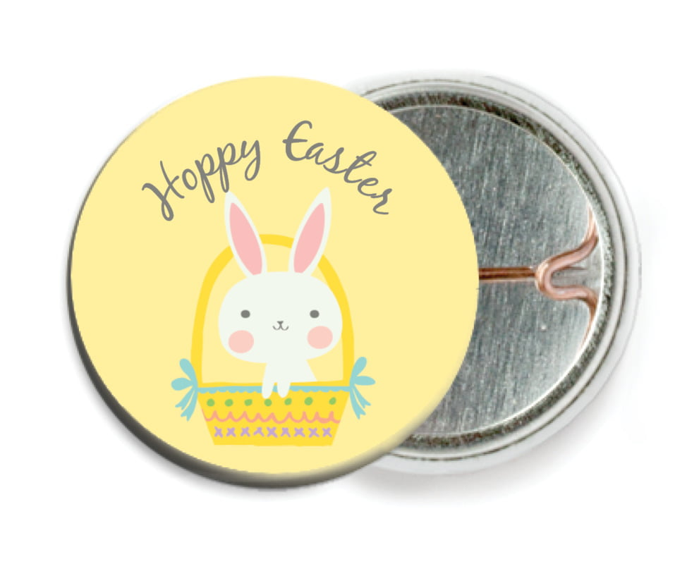 custom pin back buttons - sunburst - bunny (set of 6)
