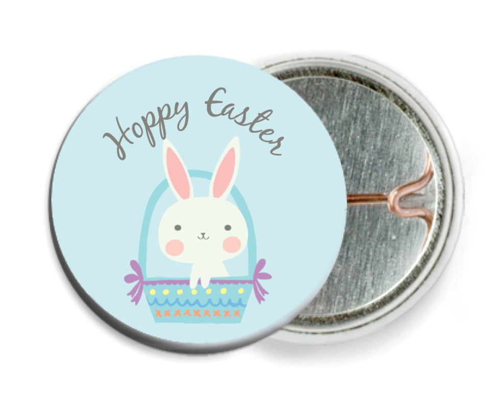custom pin back buttons - sky - bunny (set of 6)