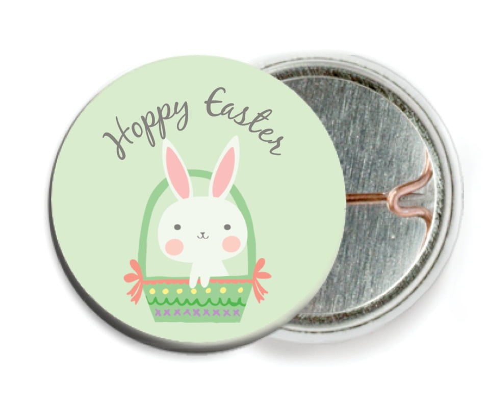 custom pin back buttons - mint - bunny (set of 6)