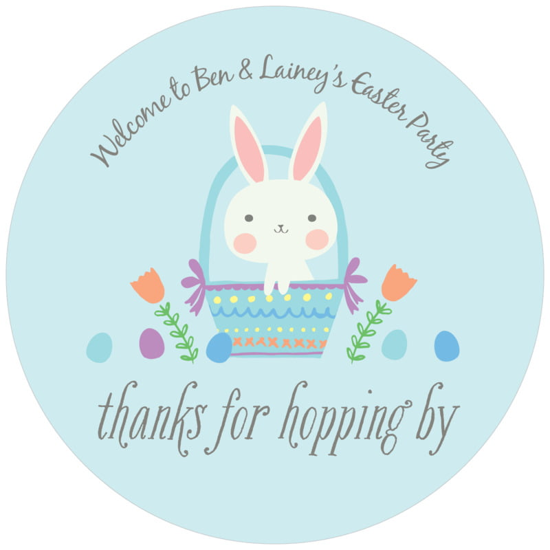 round holiday coasters - sky - bunny (set of 12)