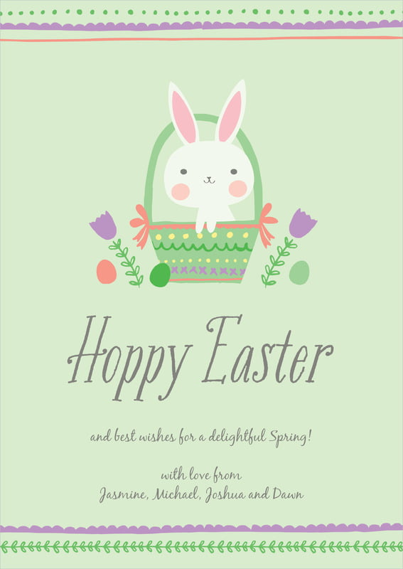 holiday cards - mint - bunny (set of 10)