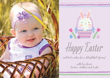 holiday cards - lilac - bunny (set of 10)