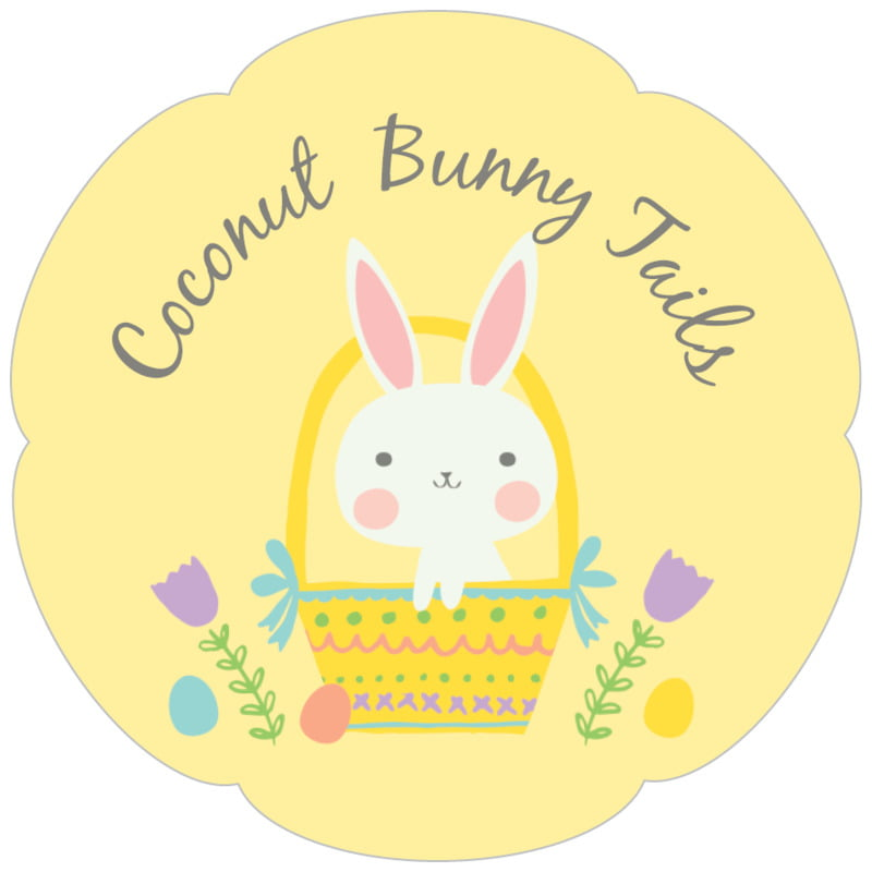petal food/craft labels - sunburst - bunny (set of 30)