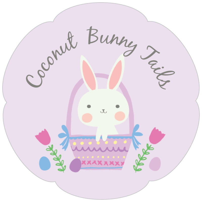 petal food/craft labels - lilac - bunny (set of 30)