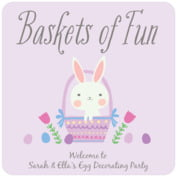 Bunny easter coasters