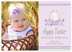 Bunny Photo Cards - Horizontal In Lilac