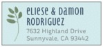 Bountiful Leaves designer address labels
