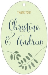 Bountiful Leaves large oval hang tags