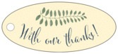 Bountiful Leaves oval hang tags