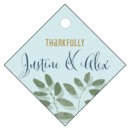 Bountiful Leaves small diamond hang tags