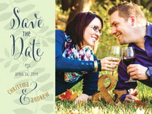 custom save-the-date cards - sage - bountiful leaves (set of 10)